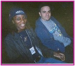 Shante & Dutchboy, 2003, grainy photo by JD