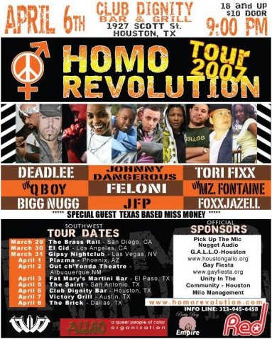 Homo Revolution Tour 2007 , Houston poster