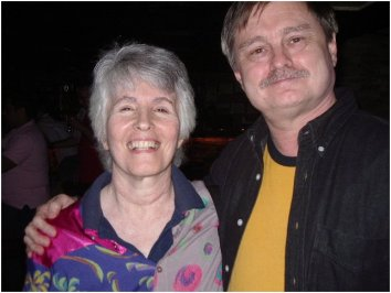 Sandy Rapp, with JD Doyle at the Outmusic Awards, June 2006