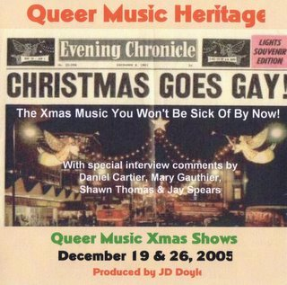 My xmas CD, as it looks when I send copies to GLBT archives