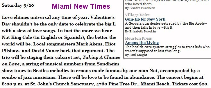 2003 news item on Taking a Chance on Love