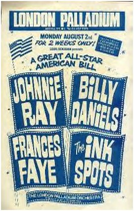 UK poster of a show with our own Johnnie Ray & Frances Faye