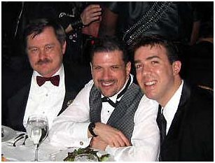 JD, Jon Gilbert Leavitt, Kevin Hannan, in NYC, March 2002..we clean up nice.