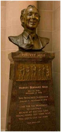 Harvey Milk bust