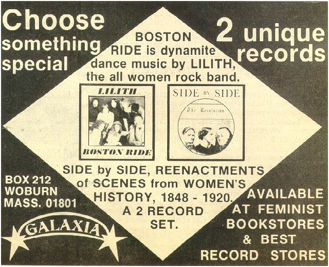 ad from Lesbian Tide, November 1978