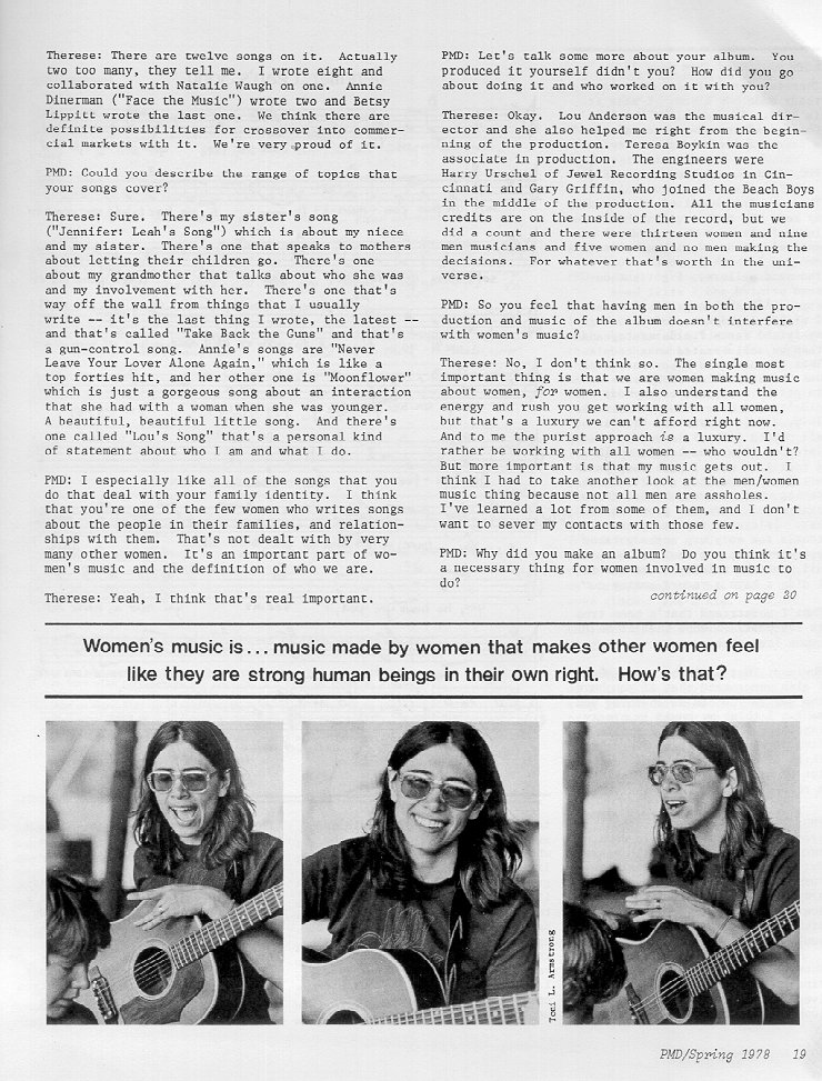 Interview from Paid My Dues, Spring 1978