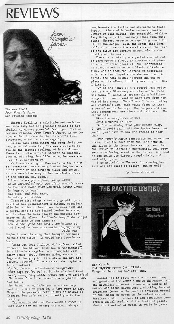 Review from Paid My Dues, Spring 1978