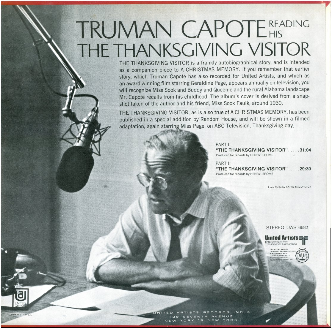 Truman Capote - The Thanksgiving Visitor