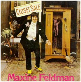 Maxine's 1979 album, and behind it, her 1972 45 rpm record
